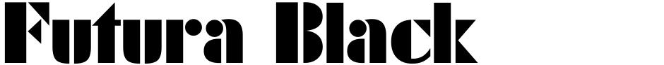 Click to view  Futura Black font, character set and sample text