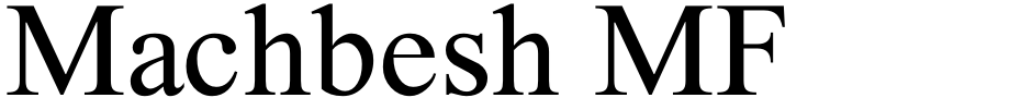 Click to view  Machbesh MF font, character set and sample text