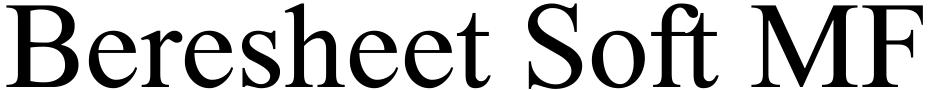 Click to view  Beresheet Soft MF font, character set and sample text
