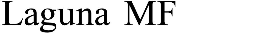 Click to view  Laguna MF font, character set and sample text