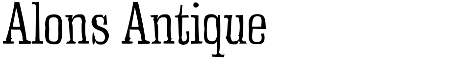 Click to view  Alons Antique font, character set and sample text