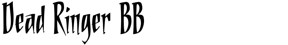 Click to view  Dead Ringer BB font, character set and sample text