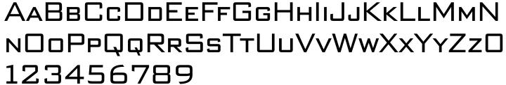 Bank Sans Caps EF Font Sample