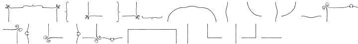 Nelly Frames™ Font Sample