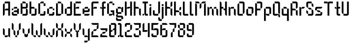 Pressure Drop 2D™ Font Sample
