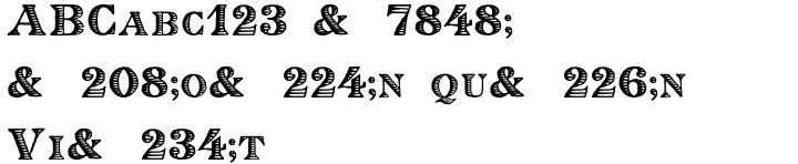 Eingraviert Font Sample