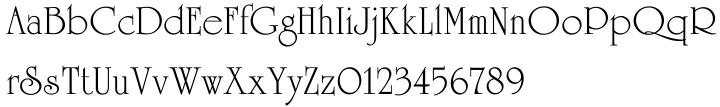 University Roman™ Font Sample