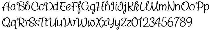 Chatter Font Sample