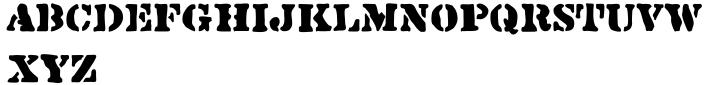 Sloppy Stencil JNL Font Sample