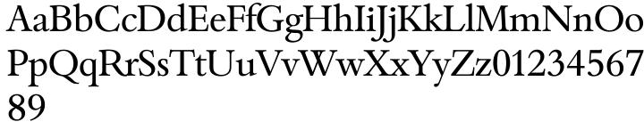 Bamberg Serial™ Font Sample