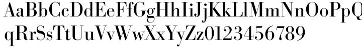 Bodoni Serial™ Font Sample