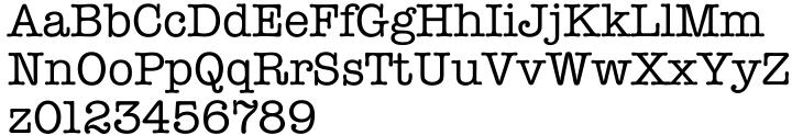 Typewriter Serial™ Font Sample