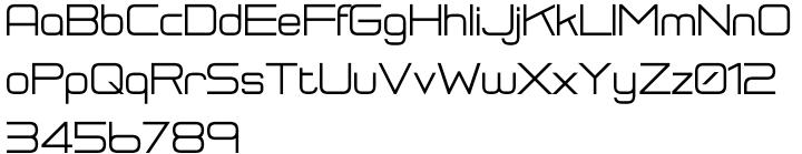 RM Squarial Font Sample