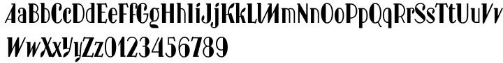 New Hotinok 2D Font Sample