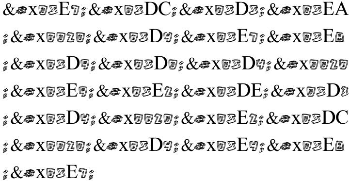 Vetto Tlat MF Font Sample