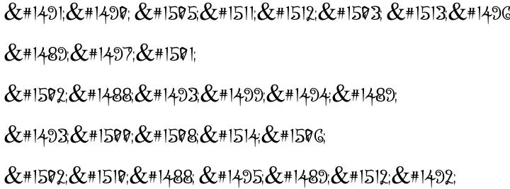 Abirut MF Font Sample