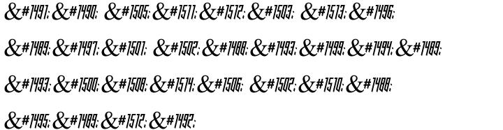 Amper MF Font Sample