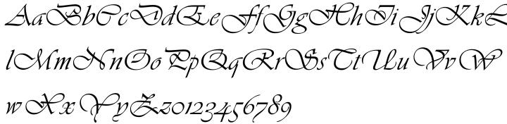 Vivaldi™ Font Sample