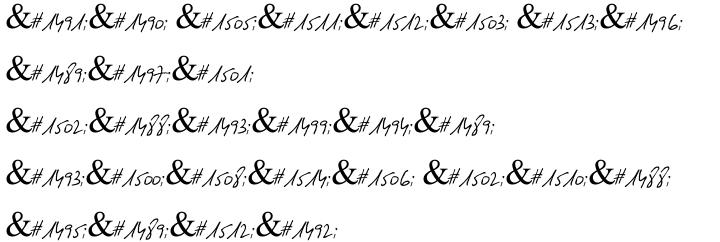 Gulash MF Font Sample