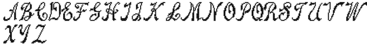 Cross Stitch Splendid Font Sample