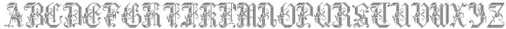 Cross Stitch Graceful Font Sample