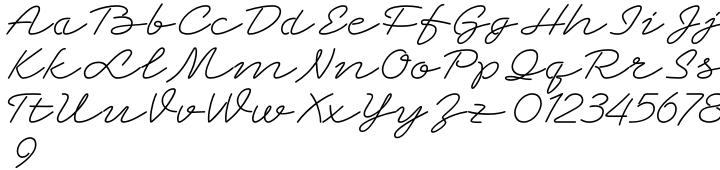 Grandcafe Font Sample