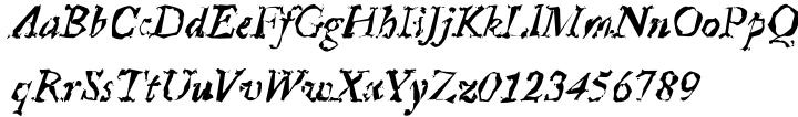 Crumpled Parchment™ Font Sample