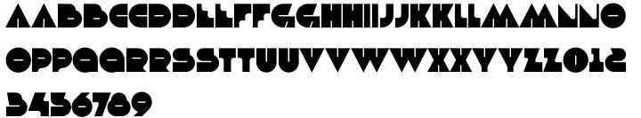 Debacle Font Sample