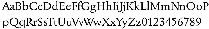 Jannon Pro™ Font Sample
