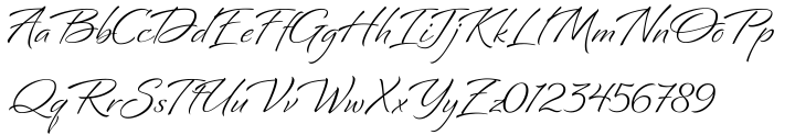 Bianca Font Sample