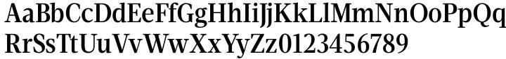 Velino Condensed Text Font Sample