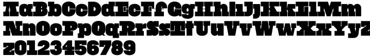 YWFT Black Slabbath Font Sample