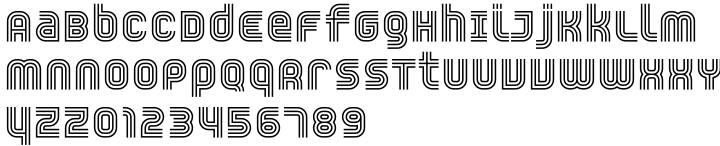 YWFT Trisect Font Sample
