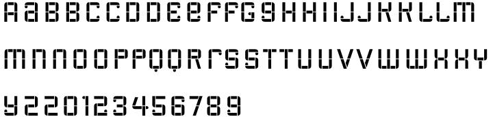 Radiac Font Sample