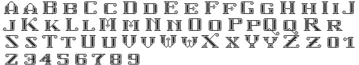 Cartelle Inline Font Sample