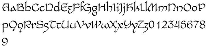 EF Bilbo™ Font Sample