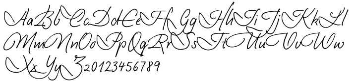 EF Casanova Script™ Font Sample