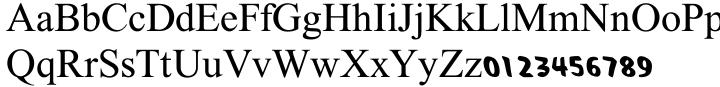 Haratza MF Font Sample