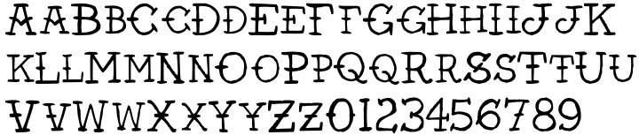 AZ Vintage Tattoo Font Sample