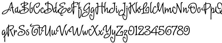 Delight Script Font Sample