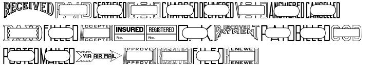 Office Stamps JNL Font Sample