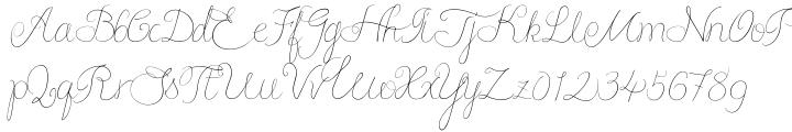 Script Love Font Sample