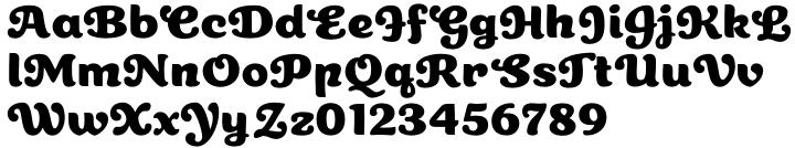 Cherry Lane Font Sample