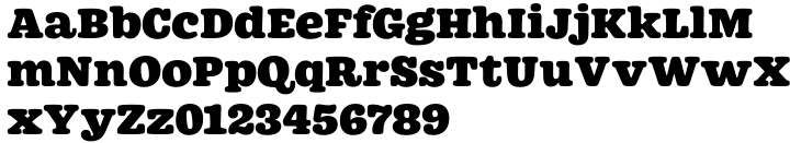 Westin Black Font Sample