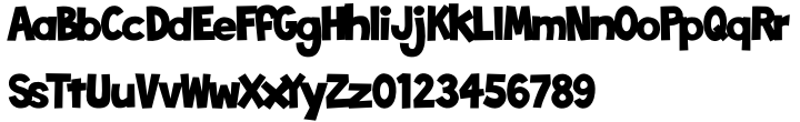 Toonish Font Sample
