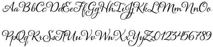 Alana Font Sample