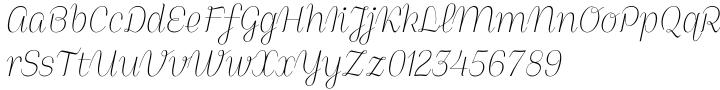 Ola Script 4F Font Sample