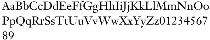 Janson Text® Font Sample