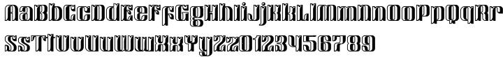 Victorina Black Shadow Font Sample