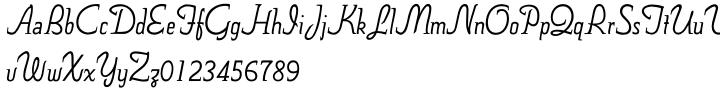 Nova Script Recut One and Two SG™ Font Sample